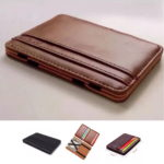 RFID Chic Leather Magic Money Clip Slim Mens Wallet ID Credit Card Holder Case – Défiscalisez mieux