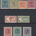 Österreich 1916/17 Lot 9 verschiedene Werte mit TAX Stempel postfrisch – Défiscalisez mieux
