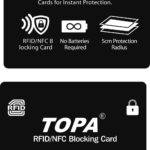 TOPA RFID Blocking Credit/Debit Card Protector NFC Contactless Signal Blocker – Défiscalisez mieux