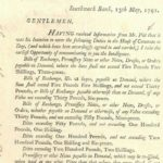 GB BIRTH OF TAXATION William Pitt's Printed BANKING Notice 1791 Letter Ap601 – Défiscalisez mieux