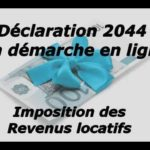 Déclaration des revenus fonciers en ligne 2044 : détail de toutes les cases!