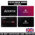 ACENTIX RFID/NFC Blocking Credit/Debit Card Protector Contactless Signal Blocker – Défiscalisez mieux