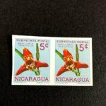Nicaragua: Scott #RA70 M Imperf. Pair CV $100 – Orchid  – Scarce Postal Tax – Défiscalisez mieux