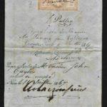 Timbres fiscaux-Effets de commerce-Napoléon III Lauré N°32 sur traite – Défiscalisez mieux