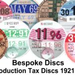 Replica / Reproduction Classic Car Vehicle Road Tax Disc – Vintage Bespoke UK – Défiscalisez mieux