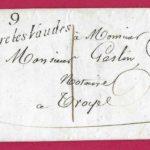 MARQUE 9 ST PARRE LES VAUDES AUBE 1834 TAXE LOCALE 1 TROYES LETTRE COVER FRANCE – Défiscalisez mieux