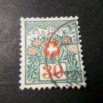 SUISSE SCHWEIZ, 1910, timbre CLASSIQUE TAXE n° 49, FLEURS, oblitéré, SWISS TAX – Défiscalisez mieux