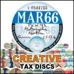 Custom Tax Disc Classic Cars Bikes Farm Vehicles Any Year Colour Style Holders – Défiscalisez mieux