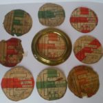 ANTIQUE HALFORD BRASS TAX DISC HOLDER WITH 9 VINTAGE TAX DISC FOR A STEAM PLOUGH – Défiscalisez mieux
