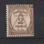 FRANCE 1927/31 TAXE N°62 2F.SEPIA-OBL.TB-COTE:30 EUROS-VOIR SCAN-I093 – Défiscalisez mieux