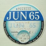 TAX DISC – OLD VINTAGE VEHICLE LICENSE – ANNUAL JUNE 1965 BEDFORD GOODS – Défiscalisez mieux