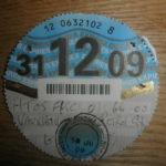 Paper tax disc expiry Dec 2009 – Défiscalisez mieux