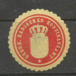Grosh. Badisches Hoffinanzamt (Tax Office) stationery seal/siegelmarke – Défiscalisez mieux