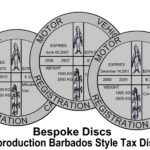 Replica / Reproduction Barbados Vehicle Tax Disc Caribbean Car Bespoke Stamp – Défiscalisez mieux