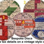 Vintage 1950s Style Car Tax Disc / MOT Reminder Reproduction Replica Bespoke – Défiscalisez mieux