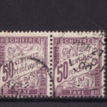timbre France TAXE    50c  lilas   num: 37   oblitéré en paire – Défiscalisez mieux