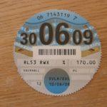Paper tax disc expiry 30 Jun 2009 – Défiscalisez mieux