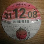 Paper tax disc expiry Dec 2008 – Défiscalisez mieux