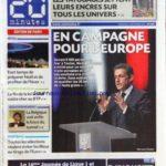 20 MINUTES [No 2157] du 02/12/2011 – LES TATOUAGES JETTENT LEURS ENCRES SUR TOUS LES UNIVERS – SARKOZY – EN CAMPAGNE POUR L'EUROPE – NICHES FISCALES – LA FIN DE LA LOI SCELLIER COUTE CHER AU BTP – LA BELGIQUE VOIT ENFIN LE BOUT DU TUNNEL – LES SPORTS – Réduisez vos impôts