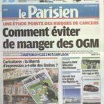 PARISIEN (LE) [No 21159] du 20/09/2012 – UNE ETUDE POINTE DES RISQUES DE CANCERS – COMMENT EVITER DE MANGER DES OGM – CARICATURES – LA LIBERTE D'EXPRESSION A-T-ELLE DES LIMITES – QUAND LA SNCF DELOCALISE DISCRETEMENT – AYRAULT FACE A LA GROGNE DES DEPUTES PS – NICHES FISCALES – LES PETITS PRIVILEGES DES DOM-TOM – LES SPORTS – FOOT – QUESTIONS SUR LES OBSEQUES DE DELARUE – Réduisez vos impôts